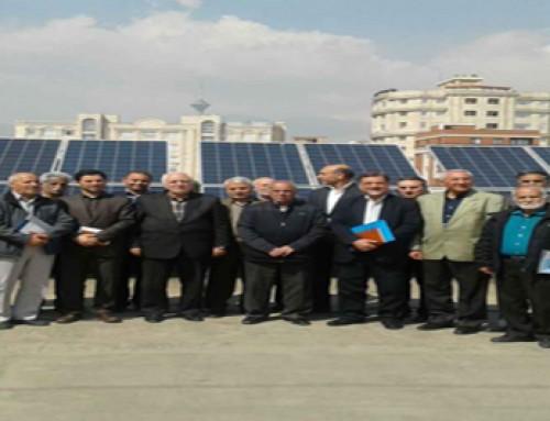 افتتاح نیروگاه خورشیدی ۲۰  کیلو واتی در مرکز کانون بازنشستگان ارتش
